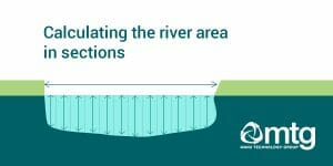 Calculating an non-uniform river can be done in sections